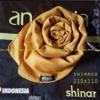 SHINAR GLAMOUR Ansania Jilbab Segi Empat Square Satin FL-0730-NA
