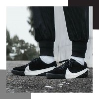Sneakers Sepatu Nike Blazer City Low LX Suede Black White