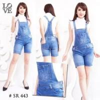 Baju Overall Celana Kodok Jumper Jumpsuit Jeans Import Lentur S M L XL