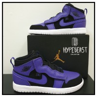 AIR JORDAN 1 Mid Alt (TD) Purple Toddler Original sepatu anak