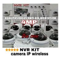 PAKET CAMERA CCTV WIRELESS BERKUALITAS 4MP 1080p NVR KIT 8 IP CAMERA