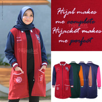 Jaket Muslimah Hijaber QADIRA RUBY BLUE Hijacket Original Panjang
