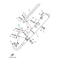 Tutup knalpot Atas Jupiter MX 1S7-E4728 Yamaha Genuine Parts