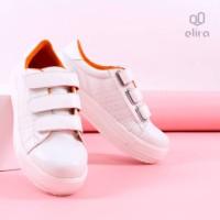 EM 006 Sepatu Casual Perekat Wanita Putih