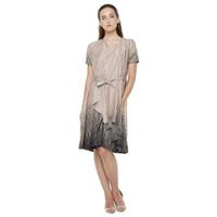 Atelier Mode Cocktail Dress Asymetrique Printed Sateen Savor Dress Wa