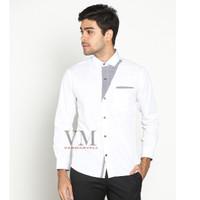 VM Kemeja Putih Panjang Slimfit - KML-133 Putih