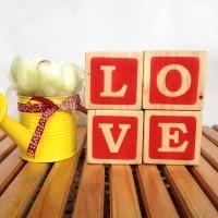 Terlaris Wooden letter / hiasan kayu - LOVE