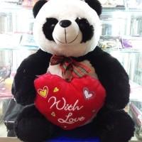 D.I.S.K.O.N Boneka Panda with Love Red Jumbo | NEW!!
