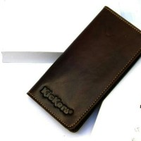 Dompet kulit asli panjang pria & wanita lipat KICKERS