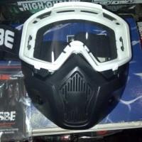 New Kacamata Goggle Masker Modular Topeng Untuk Helm Sepeda Motor
