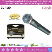 Murah !!! Mic Microphone Krezt SM 58 beta + S Kabel Professional