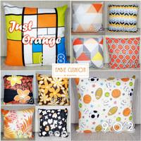 EMBIE CUSHION - Sarung Bantal Sofa / Cushion, 40x40 cm, Just Orange