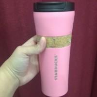 Tumbler Starbucks Pink Stainless Grande Merah Muda Doff