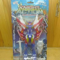 Mainan Action Figure Robot Knight Action Transformation