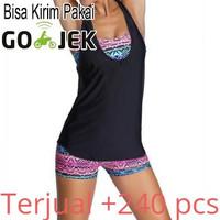 [EF]Bikini Baju Renang Wanita Sport Bathing Swimsuit with Tank Top