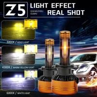 LAMPU UTAMA LED MOBIL MULTI COLOR 4300K 6000K 3000K HIGH LUMENS PNP