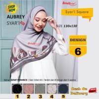 Jilbab Segiempat Aubrey Syari French Design 6 by Azzura-Kerudung Syari