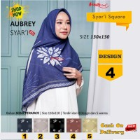 Jilbab Segiempat Aubrey Syari French Design 4 by Azzura-Kerudung Syari