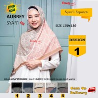 Jilbab Segiempat Aubrey Syari French Design 1 by Azzura-Kerudung Syari