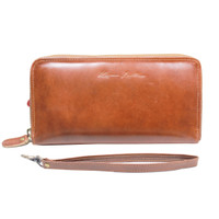 Dompet Kulit Rits Havana Pull Up - Kenes Leather