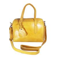 Handbag Milea Yellow- Kenes Leather Bag