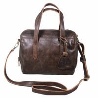 Handbag Milea Dark Brown- Kenes Leather Bag