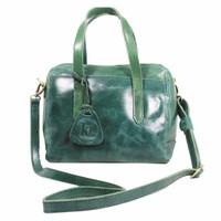 Handbag Milea Green- Kenes Leather Bag