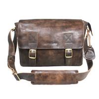 Messenger Bag Kulit Napoleon Dark Brown Vintage