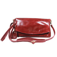 Sling and Clutch Pullup Julia Maroon - Kenes Leather