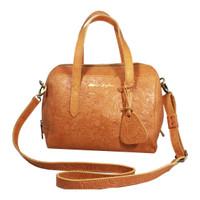 Handbag Milea Tan Motif- Kenes Leather Bag