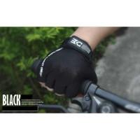 BASECAMP Sarung Tangan Olahraga Sepeda Half Finger Size L - Hitam