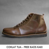 Sepatu Boots Pria Kulit Asli Original Handmade Aloof Care