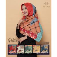 Jilbab Segi Empat GELSIE By Adabia Mufler Design 01 - Hijab Motif