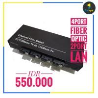 Media Converter 4port Fiber 2port Lan Fiber Switch Ethernet