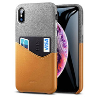 Case iPhone XS Max ESR Metro Wallet ID&Card Holder Slot Ori - Brown