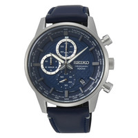 Seiko SSB333P1 Quartz Chronograph SSB333 Leather Strap