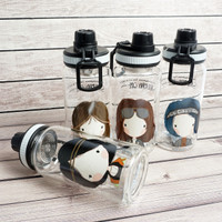 Tumbler Botol Air Transparant Girl BPA FREE