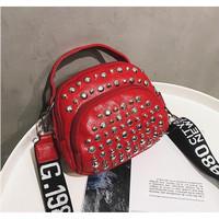 tas totebag merah marun stud kecil selempang jinjing 20249 wanita