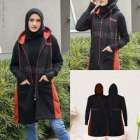 Jaket Muslimah Hijaber AVIA BLACKHijacket Original Panjang Syari