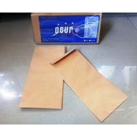 Amplop Kabinet 12.8x24cm Brown Kraft Envelopes 80 gsm- Neur