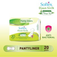 Softex Daun Sirih Pantyliner Green Tea Reg 20's