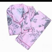 Piyama pink silver CP PP.short pants Ld 104 ee