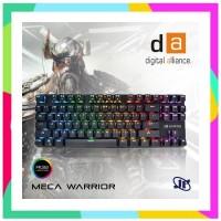 RD Keyboard Gaming Digital Alliance Meca Warrior RGB Led - Blue Switch