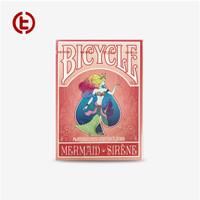 Bicycle Mermaid Putri Duyung Playing Card Import America - Red