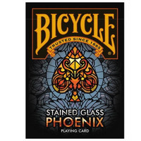 Bicycle Stained Glass Phoenix Playing Card Import America Limites
