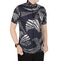 VM Kemeja Batik Pendek Slimfit Batik Pria Modern - B-407