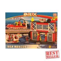 Emco Brix Build Combine Create Sea Rescue Mainan Lego Laut Mainan