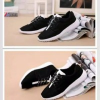 Rep Yeezy Hitam Sol Putih Termurah Sneakers Pria Wanita Casual Murah