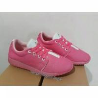 Adidas Yeezy Rep Pink/Putih Sepatu Sneakers Wanita Murah Trendy Casual