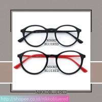Promo Frame Kacamata Bulat,Gratis Lensa Minus, Kacamata Antiradiasi,